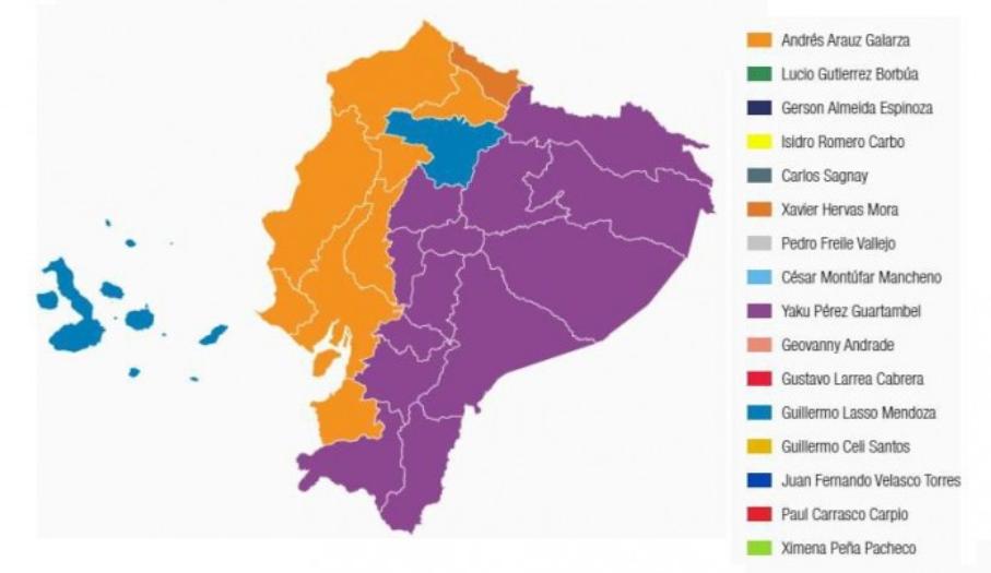 elecciones mapa Ecuador feb 21