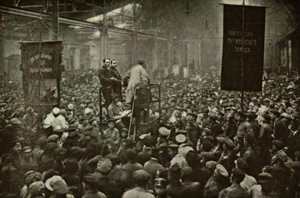 Meeting in Putilov 1917