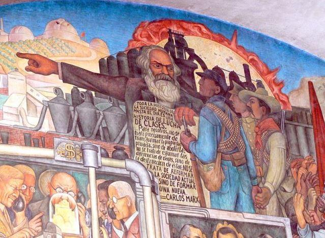 Murales Rivera Treppenhaus 7 Marx