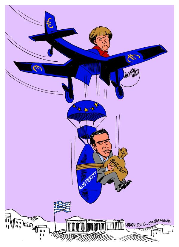 Merkel-avión-Tsipras